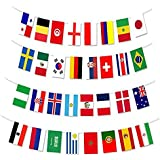 MZYARD 2018 World Cup Flags Banner 32 Country Flags for World Cup Decorations, Fans, Bars or Sport Clubs