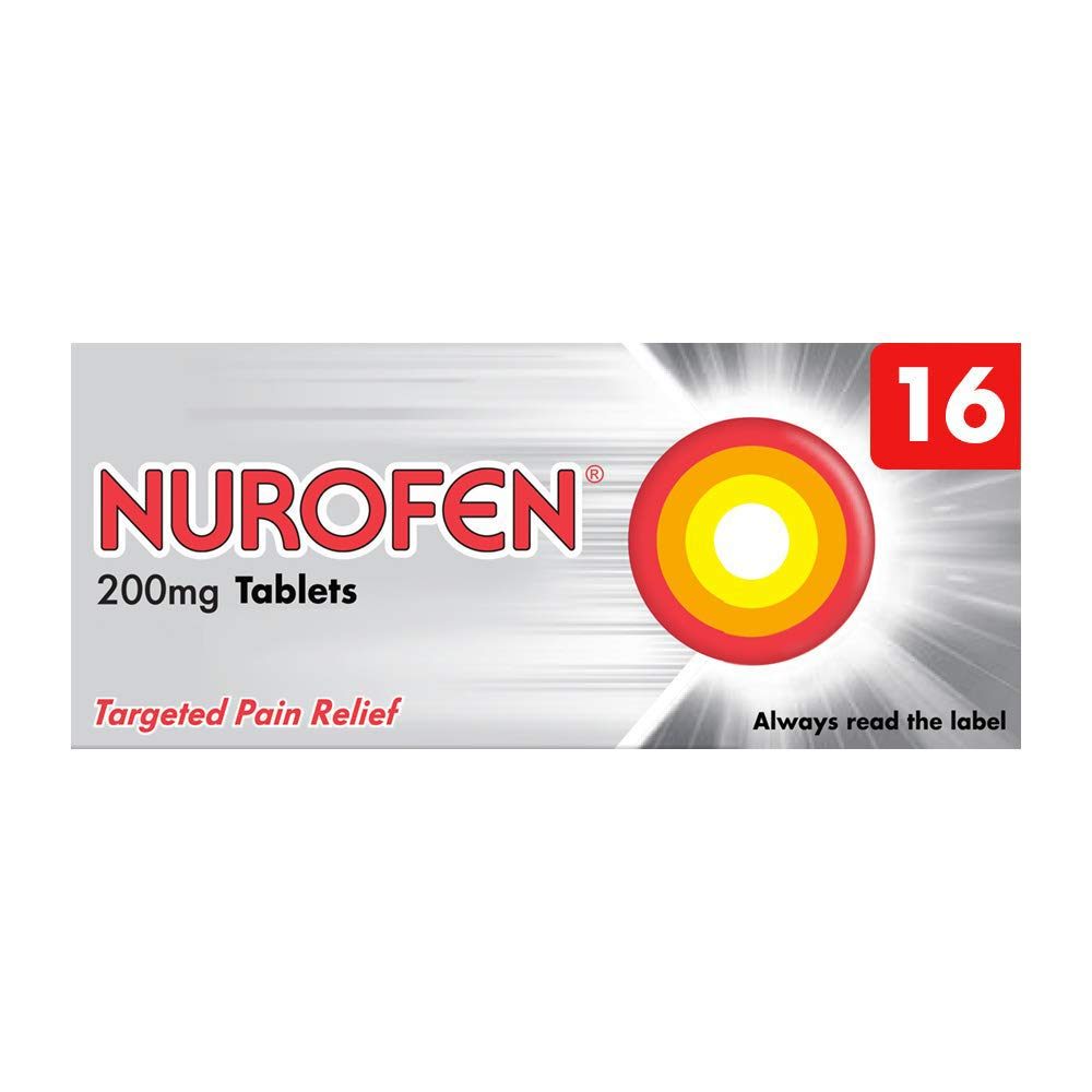 Nurofen Tablets Ibuprofen, 200 mg, 16 Tablets