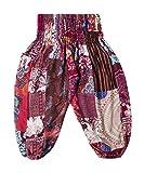 Lofbaz Kid's Patch Boho Pants - Burgundy - 12-13Y