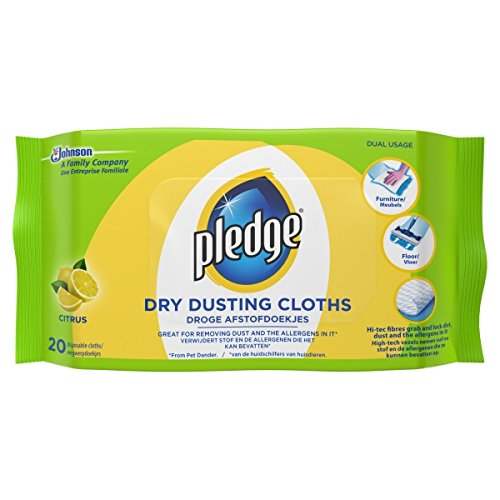 Pledge Dusting Citrus Fresh 20 Cloths (Pack of 2)