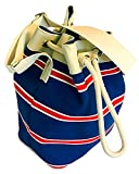 Floto Womens [Personalized Initials Embossing] Amalfi Sail Bag in Blue