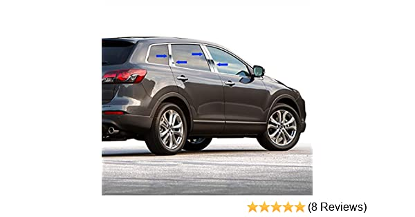 2007-2015 Mazda CX-9//CX9 8Pc Chrome Pillar Post Stainless Steel Trim Door Cover