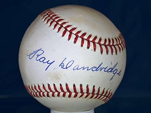 Ray Dandridge Autographed Baseball - Cert National League Authentic - PSA/DNA Certified - Autographed Baseballs