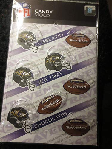 NFL BALTIMORE RAVENS CHOCOLATE MOLD gelatin ice cubes candy football molds