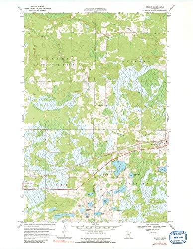 YellowMaps Wright MN topo map, 1:24000 Scale, 7.5 X 7.5 Minute, Historical, 1970, Updated 1991, 27.25 x 21.18 in - Paper ()