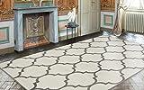 Ottomanson Royal Collection Contemporary Moroccan Trellis Design Area Rug, 7'10'' X 9'10'', Cream