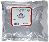 Frontier Co-op Organic Yellow Mustard Seed, Whole, 1 Pound Bulk Bag (Pack of 2)