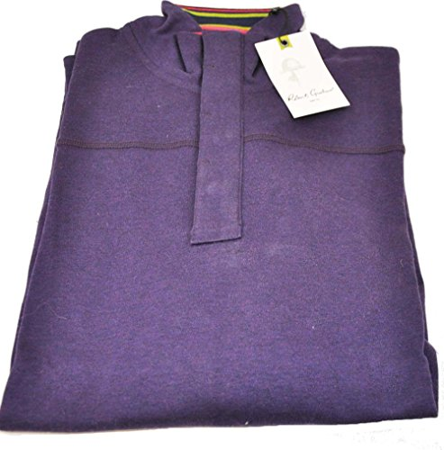 robert-graham-mens-medium-purple-long-sleeve-buttoned-pullover-sweater