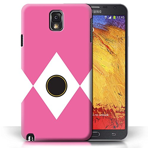 (STUFF4 Phone Case/Cover for Samsung Galaxy Note 3 / Pink Design/TV Comic Rangers Collection)