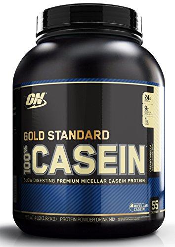 OPTIMUM NUTRITION GOLD STANDARD 100 Casein Protein Powder, Creamy Vanilla, 4 Pound