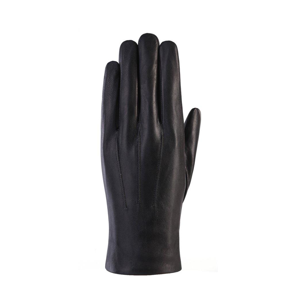 MoDA Men's Mr. Detroit Fur Lined Genuine Leather Winter Gloves C0165-BK-XXL