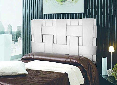 72cfeba4c8f02 Cabecero de cama Tapizado en polipiel mod. Link 180x150 cm Blanco   Amazon.es  Hogar