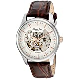 Kenneth Cole New York 10027198 Men's Automatic Skeleton Black Strap Watch