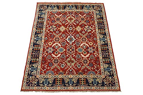 7X10 Antiqued Mahal Area Rug Hand-Knotted Wool Oriental Carpet (7.5 x 9.10)