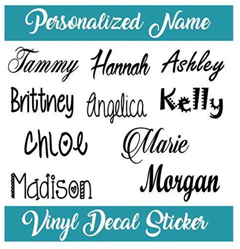 Custom Name Vinyl Decal Sticker I Yeti Rambler Decal Tumbler Cup Name Decal ()