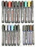 GSI Gundam Marker Pen Set of 22ea [ 21 Colors : GM01 ~ GM21 & GM300 Eraser]