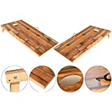 OOFIT Solid Wood Cornhole Set Junior Size, 1' x 2' Portable Sports Cornhole Game Boards Set, with 8 Bean Bags