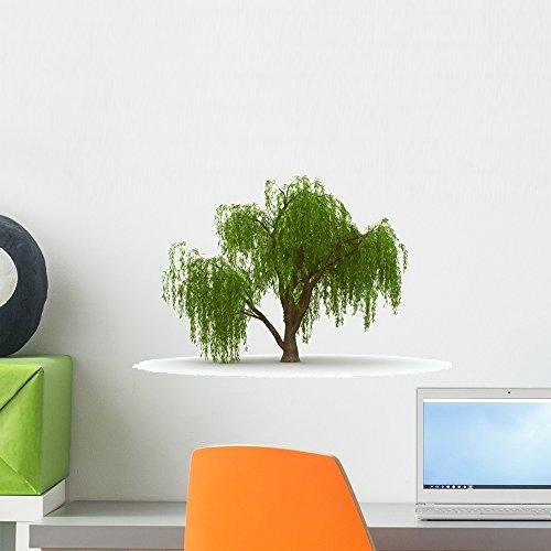 Wallmonkeys WM167674 3D Green Tree Weeping Willow Isolate...