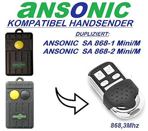 4-kanal 868.3Mhz fixed code klone fernbedienung Ansonic SA 868-1 mini//M Top Qualit/ät Kopierger/ät!!! Ansonic SA 868-2 mini//M kompatibel handsender