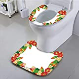 UHOO2018 The Toilet Condom Frame of Flowers Made of Paper Used for Decoration Isolated on White in Bathroom Accessories
