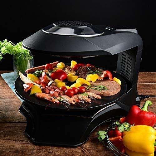 LEIXIN Rôti électrique Barbecue électrique, 1500 Watt Chauffage Infrarouge halogène sans fumée sans Gras Grill, Facile à Nettoyer Pot Barbecue