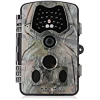 FLOUREON Hunting Camera 1080P HD 12MP Game and Wildlife Trail Hunting Video Camera with Infrared Night Version,2.4 inch LCD Screen, PIR Sensors, IP54 Spray Water Protected design
