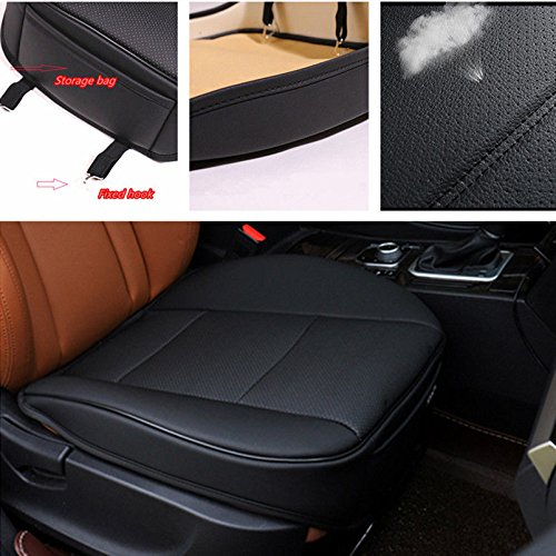 Beige CHIAE Car Seat Cover Car Interior Seat Protector Covers Leather Breathable 2pc Seat Covers Cushion Edge Full Encircled Auto Supplies Office Bamboo Charcoal