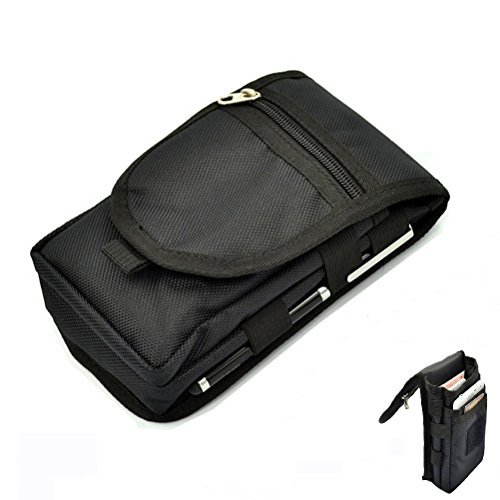 - Efanr Cell Phone Belt Clip Holster, Multipurpose Large Capacity Nylon Tactical Carrying Pouch Belt Loop Waist Bag Money Pocket, Universal Comaptible with Samsung HTC LG and More Smartphones