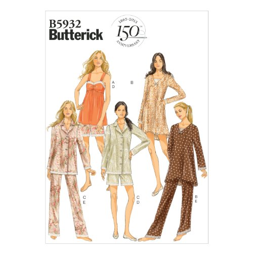 Butterick B5932 Misses' Camisole, Dress, Top, Shorts and ...
