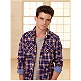 Daren Kagasoff 8 Inch x 10 Inch Photograph The Secret Life of the American Teenager ITV Series 2008 - 2013) Wearing Plaid in Front of Windows kn