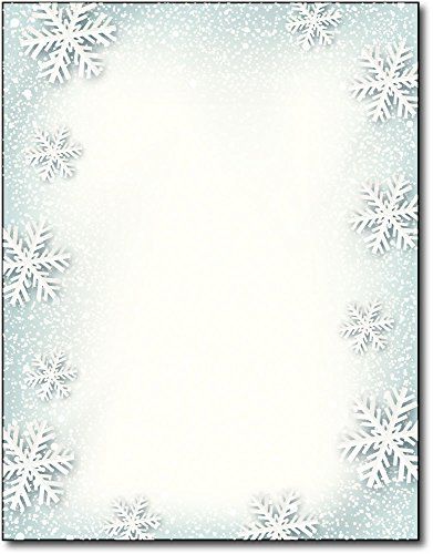 Paper Snowflakes Holiday Stationery - 80 Sheets]()