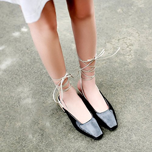 Women's Black Beach Slippers Shoes Sandals Casual Strap Shoes Summer wFOanF