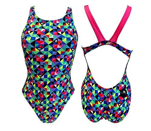 Turbo Sport de bañador Origami, Rosa (Wide Strap) Triathlon Nadar Entrenamiento, Bunt Pink, Small: Amazon.es: Deportes y aire libre