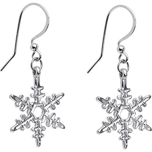 Body Candy Holiday Winter Snowflake Earrings (Earrings Winter Snowflake)