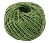 Yonger 50M Natural DIY Wrap Jute Twine Cooking String Rope for Trussing and Tying Poultry and Meat Making Sausage,Good for Arts Crafts and Garden Green