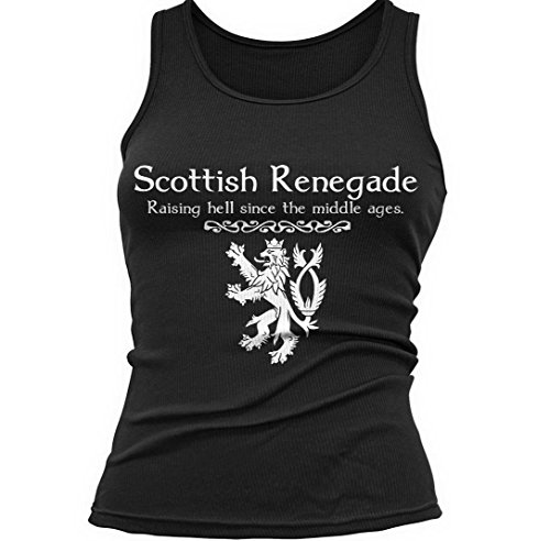 Tank Top: Scottish Renegade Raising Hell Since the Middle Ages. Womens Black... ()