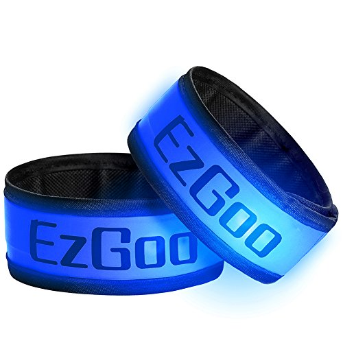 EzGoo 2 Pack LED Armband, LED Slap Band Light for Running Sports Glow BraceletSports Armband Flashing Safety Light for Running, Cycling or Walking at Night