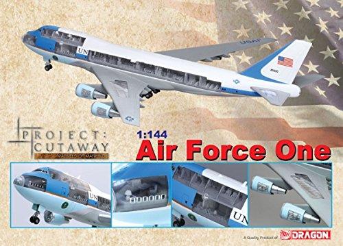 ■【アオシマ/スカイネット】(1/144)アメリカ大統領専用機エアフォース・ワン(カットアウェイモデル)(47010) ドラゴン AOSHIMA