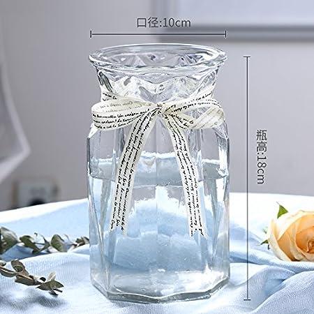 WANGZHAO Creative Botellas De Cristal, Transparente Tallado, Lily Jarrones, Adornos, Estilo Europeo,K: Amazon.es: Hogar