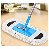 Nibesser 21.5'' Professional Microfiber Flat Floor Mop 360° Rotating,High Strength Metal Composite Handle,Premium Mop Pad