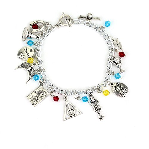 J&C Family Owned Harry Potter 11 Charms Toggle Clasp Bracelet in Gift -