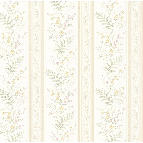 Brewster 347-20145 Bell Wildflower Stripe Wallpaper, (Wildflower Wallpaper)