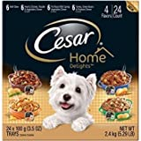 Cesar Home Delights Canine Cuisine Variety Pack 24 3.5-Ounce Trays [includes 6 each: Beef Stew, Hearty Chicken Noodle & Vegetables, Pot Roast, and Turkey Green Beans & Potatoes Dinner] For Sale