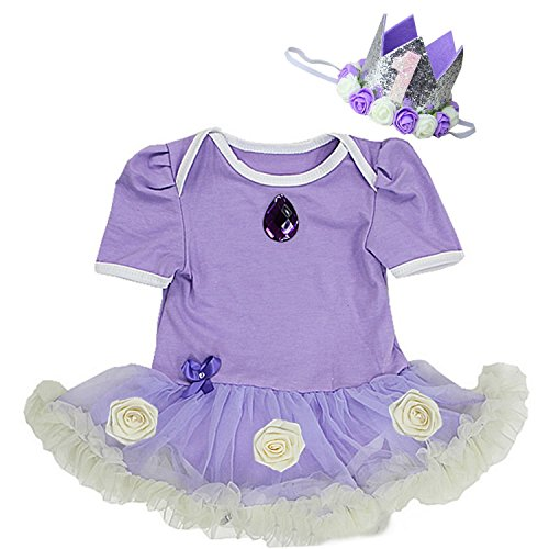 Kirei Sui Baby Sofia Costume Bodysuit Tutu M 1st (Sofia The First Baby Costumes)