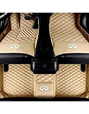 Haozhinuoshangmao Custom Car Floor Mats for Infiniti QX30 QX50 QX56 QX60 QX70 QX80 2004-2021 Full encirclement Waterproof Leather Heavy Duty Floor Lining with Logo