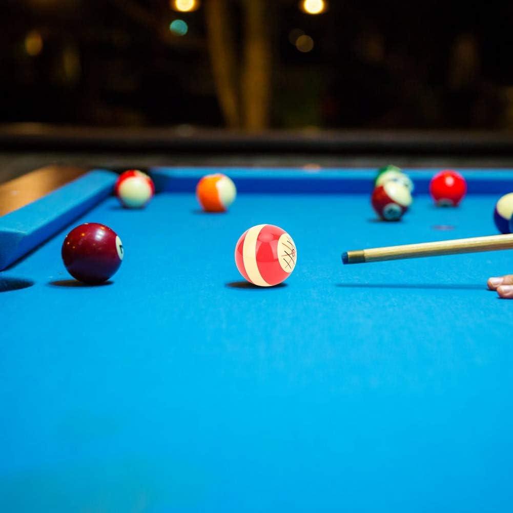 T best Cue Ball, 1Pcs 57.2mm/2.3inch Billiard 8 Red Spot Cue Ball ...