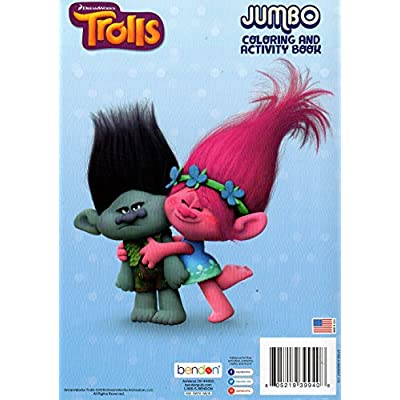 Dreamworks Trolls - Have A Poppy Day - Jumbo Coloring and Activity Book + Trolls Sticker Book (2 Pack): Toys & Games