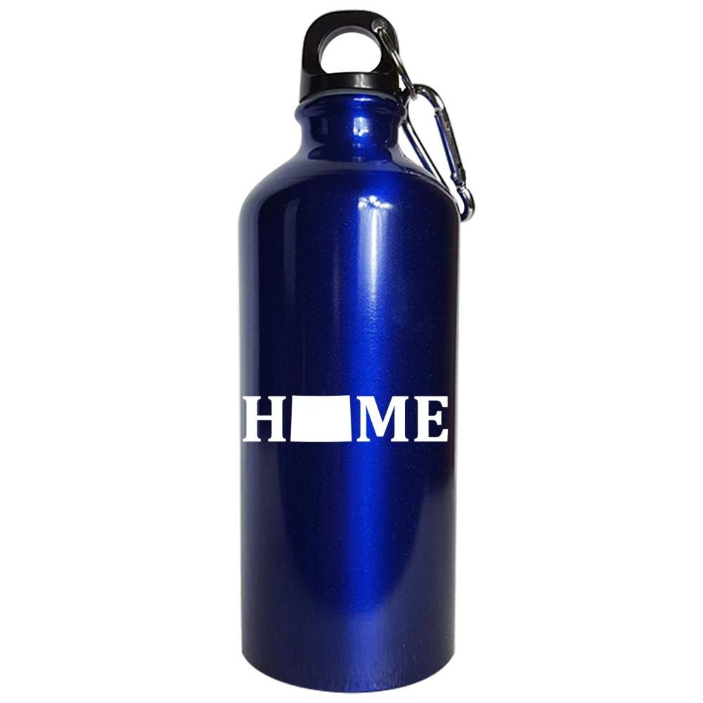 Wyoming Is Home USA State Pride - Water Bottle Metallic Blue