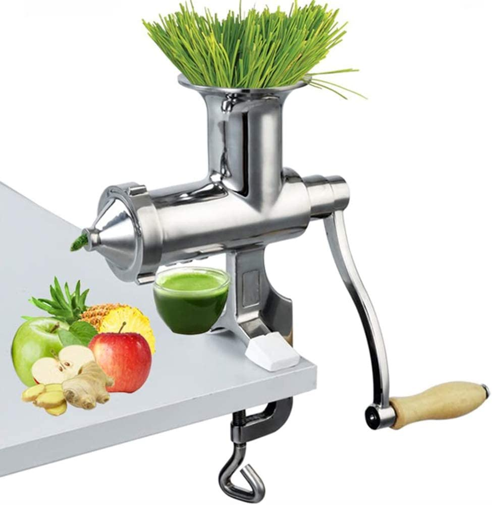 SHKY Wheatgrass Extractor Portable, Manual Juicer, for Wheat Grass Celery Kale Spinach Parsley Ginger Pomegranate Apple Grapes Orange