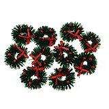 Fityle 1/12 Dolls House Mini Hanging Xmas Wreath Dollhouse Christmas Tree Decoration Garland Kids Pretend Play Toy